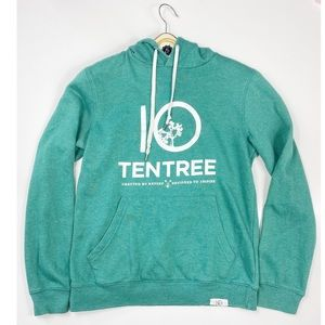 TENTREE GREEN HOODIE CRAFTED BY NATURE DESIGNED TO INSPIRE
